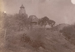 General side view of the Shiva temple of the Chandella period, Gehraho, Jhansi District